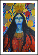 Reina Roja, Paintings, Surrealism, Fantasy, Acrylic, By Isabel H Fatacioli