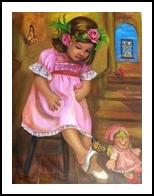 Reminiscence, Paintings, Realism, Children, Acrylic, By Luz Celeste Figueroa