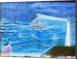 Rescue, Paintings, Fine Art, Inspirational,Seascape, Canvas,Oil,Painting, By Lana karin Fultz