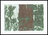 Rhododendrons, Printmaking, Expressionism, Landscape, Ink, By Thomas J Norulak