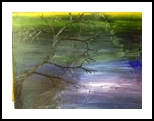 River Birch, Paintings, Impressionism, Landscape, Oil, By MD Meiser