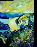 River Meuse, Paintings, Expressionism, Landscape, Canvas, By Pol Henry Ledent