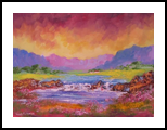 River Waterfall, Paintings, Impressionism, Environmental art, Canvas, By Louis Pretorius