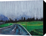 Road in the fog, Paintings, Expressionism,Fine Art, Daily Life,Landscape, Mixed, By Kate Mikhatova