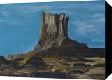 Rock of the Momument Valley, Paintings, Realism, Landscape, Oil, By Claudia Luethi alias Abdelghafar