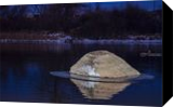 Rock Reflection On River Ice, Photography, Fine Art, Landscape, Photography: Photographic Print, By Jim Stewart