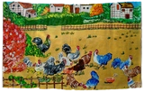 Rooster's Day Out, Paintings, Fine Art, Animals, Acrylic,Mixed, By Smita Biswas