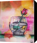 rose, Paintings, Modernism, Floral, Gouache, By Matthew Baylis
