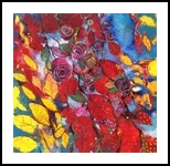 Rose garden (Il giardino delle rose), Paintings, Abstract,Expressionism,Fine Art, Figurative,Floral,Landscape,Nature, Acrylic,Oil,Pastel, By Alessandro Andreuccetti