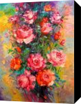Roses, Paintings, Expressionism,Impressionism, Botanical,Floral,Wildlife, Oil, By Olha   Vyacheslavovna Darchuk