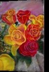 Roses, Paintings,Pastel, Impressionism,Realism, Botanical,Decorative,Floral,Still Life, Painting,Pastel, By Matthew David Evans