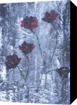 Roses, Decorative Arts,Paintings, Abstract, Botanical,Composition,Decorative,Floral, Acrylic,Canvas,Painting, By Dana Krecere
