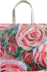 ROSES ARE RED, SO IS THE CURE., Paintings, Abstract,Fine Art,Modernism, Botanical,Floral,Nature,Still Life, Acrylic, By HSIN LIN