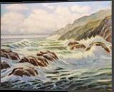 ROUGH SEA, Paintings, Realism, Seascape, Oil, By Zenon Wladyslaw Rozycki