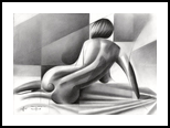 Roundism – 04-06-18, Drawings / Sketch, Abstract,Cubism,Impressionism,Realism,Surrealism, Anatomy,Composition,Erotic,Figurative,Inspirational,Nudes,People, Pencil, By Corne Akkers