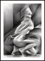 Roundism – 11-01-18, Drawings / Sketch, Abstract,Cubism,Fine Art,Impressionism,Realism, Anatomy,Composition,Erotic,Figurative,Inspirational,Nudes,People, Pencil, By Corne Akkers