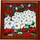Rubies and Pearls Daisies Poppies Wildflowers Flowers, Paintings, Expressionism, Floral, Acrylic, By Jackie Carpenter
