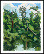 Rumford ive Near Draper's Woods, Norton, Paintings, Impressionism, Landscape, Oil, By Marc Clamage