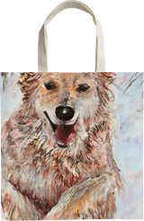 Running dog, Paintings, Fine Art, Animals,Nature, Acrylic,Canvas, By Marta Kuźniar