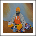 Sage, Paintings, Realism, Figurative, Canvas, By Ajay Harit