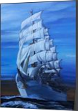 Sailing In The Evening, Paintings, Expressionism,Realism, Nature, Canvas,Oil,Painting, By Berthold von Kamptz