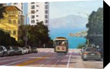 San Francisco Bay View, Paintings, Impressionism, Cityscape, Canvas,Oil, By Mason Mansung Kang