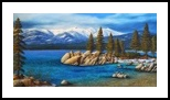 """SAND HARBOR IN WINTER ~ LAKE TAH, Paintings, Fine Art,Realism, Landscape, Oil,Painting, By Frank S. Wilson"