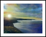 Scarborough Sunset, Paintings, Impressionism, Seascape, Pastel, By Matthew David Evans