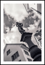 Sculpture above the Fountain, Architecture,Decorative Arts,Photography, Fine Art,Photorealism, Architecture,Composition,Conceptual,Documentary,Historical,Performance Art, Photography: Metal Print,Photography: Photographic Print,Photography: Premium Print,Photography: Stretched Canvas Print, By Ira Silence