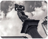 Sculpture above the Fountain, Architecture, Decorative Arts, Photography, Fine Art, Photorealism, Architecture, Composition, Conceptual, Documentary, Historical, Performance Art, Photography: Metal Print, Photography: Photographic Print, Photography: Premium Print, Photography: Stretched Canvas Print, By Ira Silence