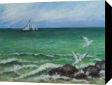 Seagulls and Sailing Ships, Paintings, Expressionism,Impressionism,Realism, Animals,Figurative,Nature,Seascape, Oil, By Jane Moore