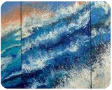 SEASCAPE TRIPTYCH (Extra large), Paintings, Abstract,Fine Art, Landscape,Nature,Seascape, Acrylic,Canvas, By Irini Karpikioti