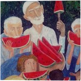 Season of watermelon, Paintings, Modernism, Floral, Canvas, By ZAKIR AHMEDOV
