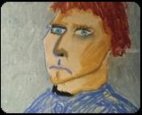 Self-Portrait, Pastel, Impressionism, Portrait, Pastel, By MD Meiser