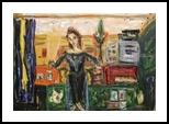 self-portrait, Paintings, Expressionism,Fine Art,Impressionism,Romanticism, Composition,Daily Life,Figurative,Inspirational,Portrait, Acrylic,Painting,Pastel,Wood, By Kate Mikhatova