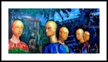 Serious conversation., Paintings, Surrealism, Humor, Acrylic,Canvas, By Victor Ovsyannikov