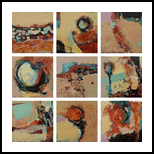 Set of nine abstract canvas paintings, Paintings, Abstract, Composition,Conceptual,Decorative, Acrylic,Canvas, By Emilia Milcheva