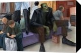 Shopping, Paintings, Impressionism, People, Oil, By Michael J Connors