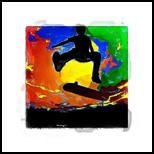 Skater, Digital Art / Computer Art, Abstract, People, Digital, By Joshua Bindseil