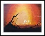 Skyfall Burning (aka 007's home), Paintings, Impressionism, Landscape, Oil, By Stephen Keller