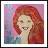 Smile, Decorative Arts, Primitive, Portrait, Acrylic, By Paula Valeria Fridman