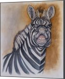 Smiling Zebra, Paintings, Fine Art, Animals,Children,Fantasy,Humor, Painting,Watercolor, By Kelly A Mills