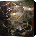 Smoking Frenzy, Paintings, Expressionism,Fine Art, Narrative, Oil,Painting, By Gregory Kitterle