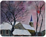 snow in  sevry, Paintings, Impressionism, Landscape, Canvas, By Pol Ledent