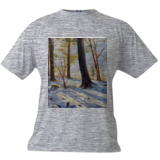 Snow on the Hill, Paintings, Impressionism, Botanical,Landscape, Canvas,Oil, By Mason Mansung Kang