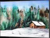 Snow Retreat, Paintings, Fine Art, Landscape, Watercolor, By james Allen lagasse
