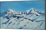 Snowy peaks, Paintings, Expressionism, Realism, Landscape, Canvas, By Ajay Harit