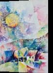 Soleil printanier, Paintings, Abstract,Fauvism,Fine Art, Figurative,Floral,Landscape,Nature, Canvas,Oil, By Beatrice BEDEUR