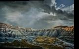 South Dakota Badlands 2, Photography, Photorealism, Landscape, Metal, By Duane Klipping