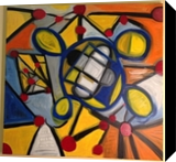Space DNA, Paintings, Abstract, The Primative, Oil, By Silvia Palazon Lopez